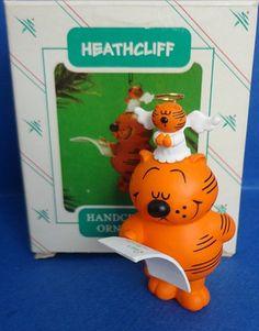1986 Heathcliff Hallmark Retired Ornament by TwoKittensGiftsAgain