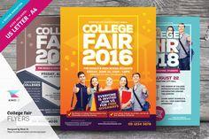 College Fair Flyer Templates by kinzi21 on @creativemarket
