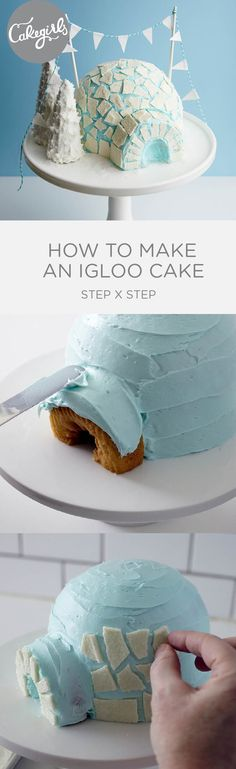 How to make and adorable show stopping Igloo Cake | Cakegirls Step x Step