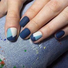 Акцент на безымянном пальце, Аппаратный маникюр, Геометрический маникюр короткие ногти, Идеи маникюра на короткие ногти, Идеи матового маникюра, Маникюр весна 2017, Матовый дизайн ногтей, Матовый маникюр на короткие ногти