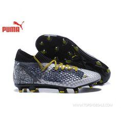 1c09cac0f64b 2018 FIFA World Cup Puma Future 18.1Netfit Griezmann hyFG 104613-01 Grey    Core Black Football shoes