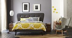 Venus QS Bed Frame with curved headboard & slim line base main product image 2