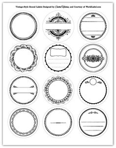 circle tags...lots of other printables