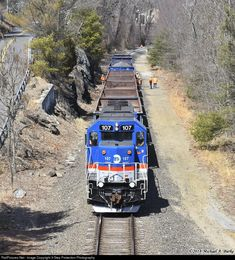 RailPictures.Net Photo: MNCR 107 Metro-North Railroad EMD GP35R at Beacon Falls, Connecticut by 3-Step Protection Photography