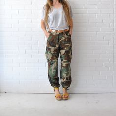 Army Fatigue Pants  //  Camouflage Military High by JACKNBOOTS