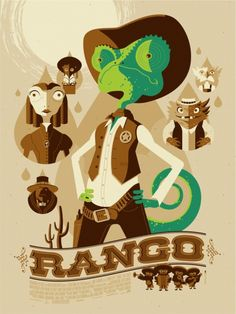 My little Ivy's fave! Rango - Tom Whalen @Michele Morales Morales Morales Wilkie