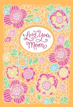 This laser-cut card of floral blooms is a simply festive wish for mom.