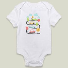 Wroom Wroom Onesie by petrawolff on BoomBoomPrints