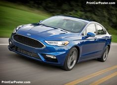 Ford Fusion V6 Sport 2017 poster, #poster, #mousepad