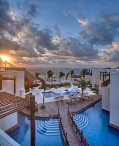 Caribbean Sunrise at Azul Beach Hotel. Karisma Hotels,  Gourmet Inclusive, Riviera Maya, Family Vacation, Honeymoon, Wedding, Travel, Mexico