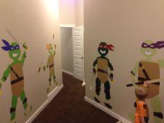 Teenage mutant ninja turtles hand crafted vinyl characters for my little boys room.