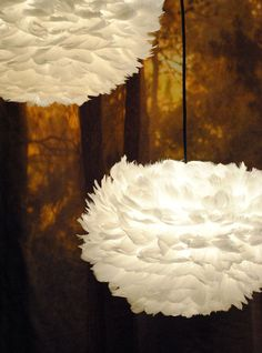 EOS feather light for the bedroom! Feather Lamp, Cloud Lamp, Hall Lighting, Gold Light, New Wallpaper, Shops, Beautiful Lights, House Design, Design Homes