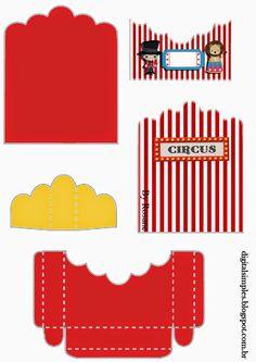 El Circo: Soporte para Golosinas para Imprimir Gratis.