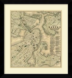 'Boston, Massachusetts, 1884' by Tilly Haynes Framed Graphic Art