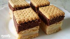 Tejbegrízes-kekszes süti | Nosalty Hungarian Recipes, Fudge, Tiramisu, Tapas, Cake Recipes, Biscuits, Cheesecake, Food And Drink, Favorite Recipes
