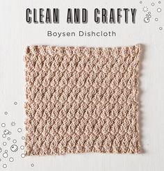 Free Boysen Dishcloth Pattern