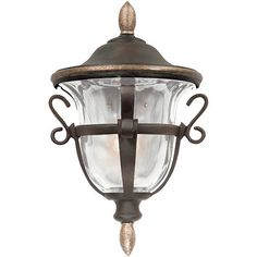 Tudor Porch Light - Walnut ($319) ❤ liked on Polyvore featuring home, outdoors, outdoor lighting, patio light, outside light, outside patio lights, frontgate and outdoor yard lights