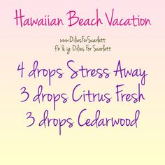 Feel like a beach vacation? This blend, good for diffusing or a roller blend, supports a mellow mood, and will transport you directly to the white sand beaches of Hawaii! Essential Oils Guide, Essential Oil Uses, Doterra Essential Oils, Young Living Essential Oils, Yl Oils, Essential Oil Diffuser Blends, Diffuser Recipes, Stress, Living Oils