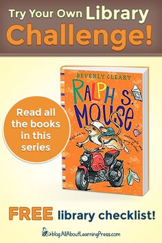 Challenge your child to read all 3 books in this fun series called Ralph S. Mouse by Beverly Cleary! Beverly Cleary, Free Library, Reading Challenge, Chapter Books, Learning Tools, Language Arts, Curriculum, School Ideas, Challenges