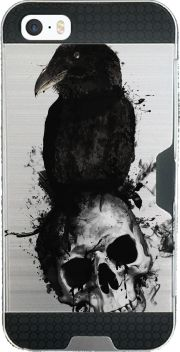 coque Iphone SE armor Raven and Skull