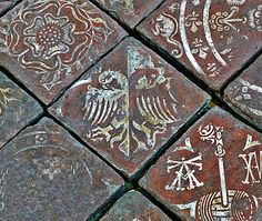 Medieval floor tiles at Hailes Abbey (endowed by King John's son Richard, Earl of Cornwall, 1209 - 1272) showing the double eagle symbol of the King of the Romans. Earl Richard was inter alia the only Englishman to be elected as King of the Romans, and could have upgraded to Holy Roman Emperor but never made it to Rome to see the Pope about this.
