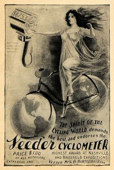 1898 Ad Bicycle Accessory Veeder Cyclometer Mileage - ORIGINAL ADVERTISING #vintagebicycles