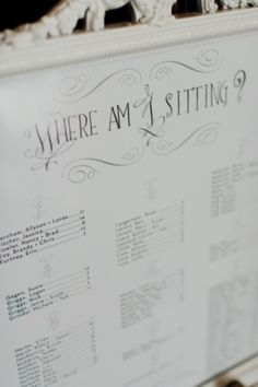 One of the most important problems to solve planning a wedding is where and who will sit. After you solve it, you are to choose a seating chart design and make corresponding escort cards. What are the ideas for a seating chart? Seating Chart Wedding, Seating Charts, Our Wedding, Dream Wedding, Wedding Stuff, Wedding Things, Wedding 2015, Fall Wedding, Wedding Flowers