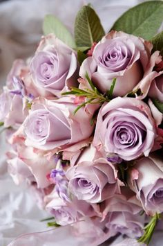 My sweet husband gave me a flower arrangement with some lilac roses. Turns out I love lilac roses! Purple Roses Wedding, Lilac Roses, Rose Wedding Bouquet, Rose Bouquet, Wedding Flowers, Lavender Bouquet, Silver Roses, Wedding Dress, Love Rose