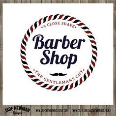 Barber Shop 2 Retro Vintage Logo Design by JadeNewmanDesigns, $45.00