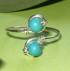 Sterling Silver Turquoise Toe Ring. $8.00, via Etsy.