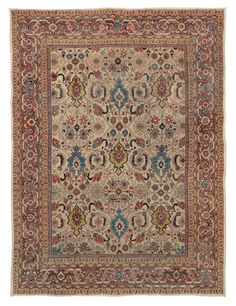 SULTANABAD, WEST CENTRAL PERSIAN, 8FT 10IN X 11FT 8IN, LATE 19TH CENTURY http://www.claremontrug.com/antique-rugs-information/collecting/claremont-rug-companys-new-acquisition-highlights-antique-persian-rugs/sultanabad-west-central-persian-8ft-10in-x-11ft-8in-late-19th-century/