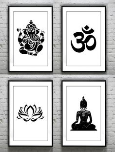 Set of 4 Ganesha lotus buddha om, Meditating yoga prints ,Gold Foil Print Print Gold Wall Art Rose Gold Mural Prints Vintage Foil Quote Set von 4 Ganesha Lotus Drucke Buddha Om meditieren Yoga Yoga Studio Design, Yoga Studio Home, Meditation Raumdekor, Meditation Room Decor, Yoga Dekor, Lotus Buddha, Yoga Kunst, Zen Home Decor, Gold Wall Art