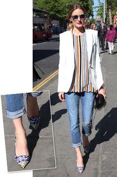 b69071ef5e94 Shoe Of The Day. Olivia Palermo wears Jimmy Choo.