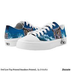 Owl Low Top Printed Sneakers Printed Shoes
