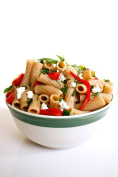 DeLallo.com Summer Recipes: Whole-Wheat Rigatoni with Red Peppers & Goat Cheese