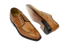 bb672cbc1f8159 Schuhe Havret 3514 braun tan rahmengenäht Business Schuhe Herren