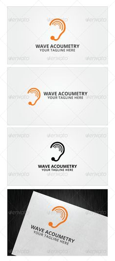 Wave Acoumetry Logo Template ...  PSD logo, acoumeter, aid, audio, audiology, care, ear, health, hear, hearing, hearing center, human, listen, medical, service, sound, speech, talk, test, wifi