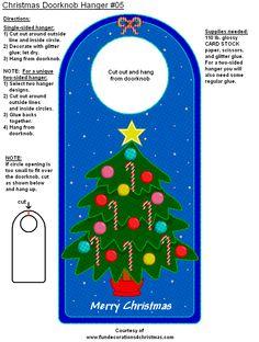 Doorknob Hangers, Door Knobs, Glitter Glue, Card Stock, Kids Room, Boxes, Printable, Templates, Holidays
