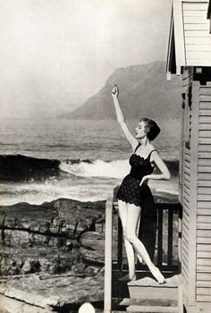 St James, Cape Town. Vogue South Africa,1960. James Beach, Cape Town South Africa, Saint James, Beach Tops, Old Pictures, Black And White, City, Nice People, Homeland