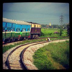 Circular train around Yangon, Myanmar