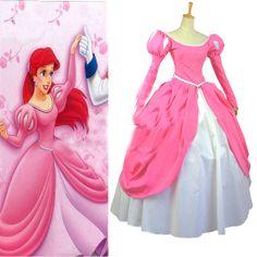 Vestido lindo e rosa de Ariel