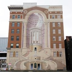 1000 images about richard haas on pinterest murals for Cincinnatus mural
