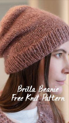 Free Knitting Patterns For Women, Crochet Patterns, Knit Mittens, Knitted Hats, Knit Crochet, Crochet Hats, Fabric Yarn, Crochet Instructions, Loom Knitting