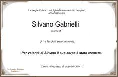 Predazzo, necrologio Silvano Gabrielli