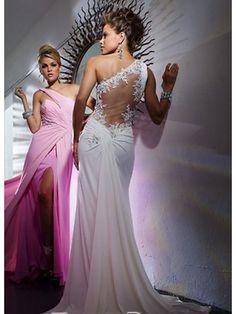 Sexy Sheath / Column Chiffon Long Evening / Prom / Formal Dresses 99901002