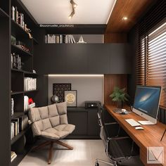 home office Find home projects from professionals for ideas amp; Home Office do Viajante by Laura Mueller Arquitetura Interiores Home Office Colors, Home Office Setup, Home Office Space, Office Ideas, Desk Office, Study Office, Future Office, Men's Office Decor, Lawyer Office