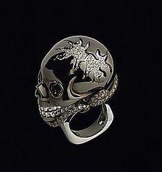 Lydia Courteille Diamond Skull Ring- Interesting...