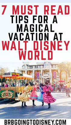 Don't make common Disney World vacation mistakes!  Check out these MUST READ tips for a MAGICAL Disney World vacation.  These 7 Disney World Tips and Tricks will keep everyone in your family smiling at the happiest place on Earth!
