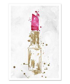 Look what I found on #zulily! Lipstick Lover Art Print #zulilyfinds