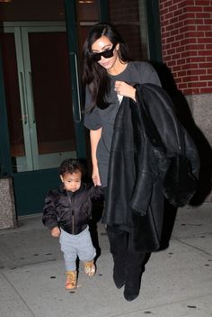 Kim & North leaving their apartment in NYC - December 22, 2014